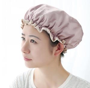 Satin Hair Cap Bonnet Night Sleep Cap Women Shower Cap Femme Silk Long Hair Hat For Bath Unisex