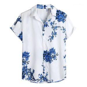 Дизайнерские Рубашки С Отложным Воротником Печатные Одиночные Нагрудные Пуговицы Мужские Топы Плюс Размер Мужская Одежда Китайский Стиль Мужские