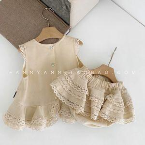 Vêtements pour bébé Tout-petit Fille Vêtements Ensembles Mode New Kids filles sans manches + short Costume Baby Girl Party mignon Vêtements Y200325
