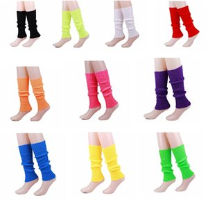 Bright woolen sock warm leg socks autumn and winter knitted footwear vertical stripes candy color socks hot sell