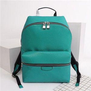 Cuero de los nuevos hombres mochila 36 Estilo Palm Springs Impresión mochilas mujeres de los hombres del cuero genuino de alta calidad de los niños de escolar