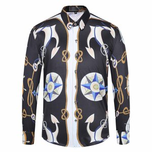 2020 Of Men 3D Floral tiger Print Colour Mixture Luxury Casual Harajuku Shirts Long sleeves MenMedusa