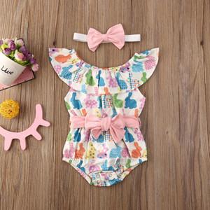 Pudcoco New Moda Bebê recém-nascido do bebé Roupa de Páscoa Romper Macacão Bodysuit vestido Outfits