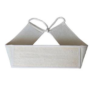 Big luffa Retour Bracelet de Exfoliant naturel loofah de Pull Back Sangle de bain Ceinture Parfait pour douche et baignoire Spa
