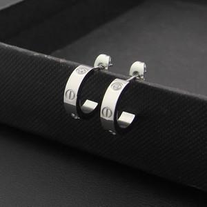 뜨거운 판매 고품질 패션 소년 소녀 티타늄 스틸은 여성 남성 쥬얼리 골드 실버 연애 편지 다이아몬드 원형 후프 귀걸이 장미