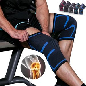 Rodilla elástica Pads Fitness Deportivo rodillera engranaje del gimnasio de la rótula de la rodilla Running Baloncesto Voleibol Tenis ayuda del apoyo de 1PC