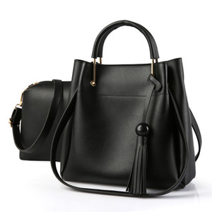 HBP Woman Totes Bags Fashion Bag Female Leather Handbag Purse ShoulderBag MessengerBag Black