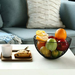 Creative Nordic Style Fruit Basket Modern Minimalist Wrought Iron Fruit Plate Living Room Home Coffee Table Snack Basket Dried Fruit Plate