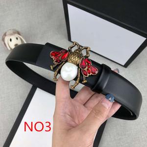 Cinturones de lujo Cinturones de diseño Cinturones de abejas para hombre para mujer Marca hebilla lisa casual 6 Modelos Cinturones de moda Ancho 34 mm Alta calidad