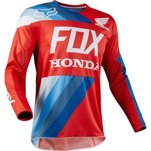 Honda Racing Suit Ciclismo downhill desgaste do hoodie raposa camisa de ciclismo de corrida manga longa costume motocicleta terno 2019 novo estilo Rapha Jerseys 002