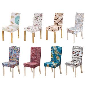 Forcheer Copertura sedia da pranzo con stampa floreale universale Spandex Stretch sedia dello Slipcover removibile lavabile 1 pc