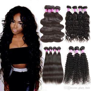2017 Glary meistverkauften Artikel Mink brasilianisches Haar Bundles Malaysian Indian peruanische Körper-Wellen-Haar Weaves Rohboden Günstige Haar-Verlängerungen