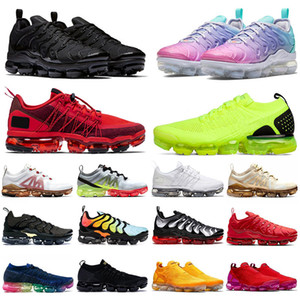 2020 PLUS tn Stock x Shoes GRANDE TAGLIA 47 laceless MOC FLYKNIT 2019 Run Utility nuove scarpe da corsa da uomo sneakers da donna di design pastello