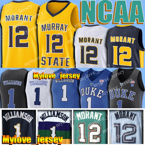 NCAA 12 Ja Morant Jersey 1 Zion Williamson Murray Universidade do Estado 12 Deandre Hunter 5 RJ Barrett 21 Rui Hachimura 23 Jarrett Culver Jerseys