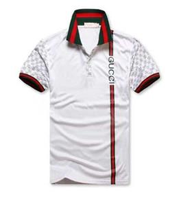 Erkek Polo Gömlek Yaz G G Polo Mens Gömlek Gevşek Nefes Çizgili Harf Moda Günlük Stil Marka Gömlek İtalya yazdır