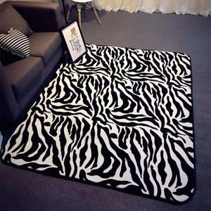 Zebra geometrici stampati Tappeti europei per soggiorno antiscivolo Tappeti Area per il bagno moderna Moda Pavimento Moquette Porta Mats