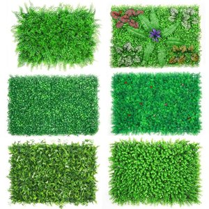 DIY Artificial Plant Wall 40x60cm Plastic Home Garden TV Background Shop The Mall Home Decoration Green Carpet Turf Jungle Party