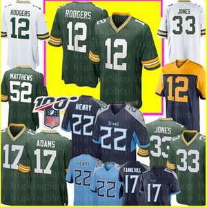12 Aaron Rodgers 33 Aaron Jones 17 Davante Adams Jersey Derrick Henry 22 # 17 Ryan Tannehill Trikots