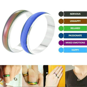 100Pcs lot Wholesale Jewelery Bulks Mixed Change Color Silver Plated Mood Rings Temperature Emotion Feeling Rings For Women Men