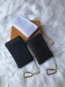 Spedizione gratuita! Speciale 4 colori chiave del sacchetto del cuoio della moneta con zip Portafoglio portafogli da donna progettista borsa 62650