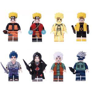 Japão desenhos animados anime Naruto Hokage Ninja Uzumaki Naruto Hatake Kakashi Uchiha Sasuke Itachi Jiraiya Mini Action Figure Building Blocks Toy