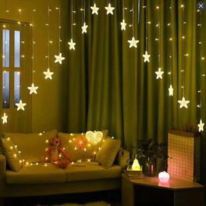 Star Light Bed Cortinas 3 M CONDUZIU a Luz Cordas Decoração Luzes Do Feriado Luzes de Néon Do Casamento Luzes de Quebrar Janela