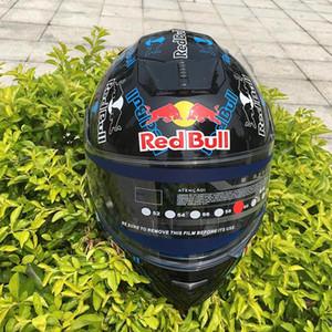 Casco de la motocicleta tirón encima del casco de los hombres y mujeres de Certificación de la cara llena del motocrós Capacete Con ECE Doble Visera