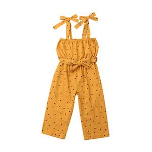 FOCUSNORM Yaz Rompers Çocuk Kız Bebek Giyim Kolsuz Sling Nokta Romper Tulum Bodysuit Kıyafet İçin Kid Kız 1-5 Yıl