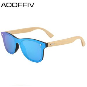 AOOFFIV 2019 Bamboo Wooden Polarized Sunglasses Men Retro Sun glasses Women Brand Original Wood Glasses masculino
