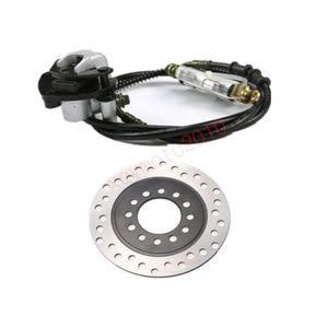 TDPRO Rear Disc Brake Assembly Master Cylinder Caliper + Disc Rotor for 70cc 90cc 110cc 125cc Go Kart ATV Quad Dirt Bike Parts