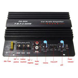 Freeshipping Siyah 12 V 100 W Amplifikatör Kurulu Mono Araba Ses Güç Amplifikatörü Güçlü Bas Subwoofer Amp PA-60A