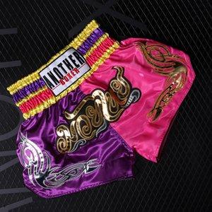 Kick Boxing Homens Tiger Muay Thai Shorts Crianças Meninos Kickbox Grappling Luta de formação Troncos Crianças Kickboxing roupa da aptidão