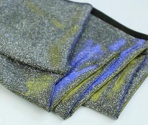 150 * 100 centímetros Sparkling Glittery Metallic Jersey estiramento Lurex Material Tecido