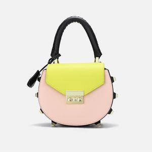 Overseas2019 Zhenpi Xia Frau Paket Sweet Lady Hit Farbe Runde kleine Single Shoulder Span Portable Bag