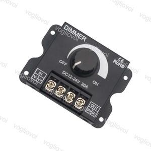 Светодиодный диммер яркости регулируемый контроллер 12В 24В 30А один цвет светодиодные полосы света диммер для лампы LED бар БДХ