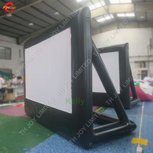 مخصص حجم نفخ الشاشة فيلم في الهواء الطلق السينما العارض الخلفي الهواء نفخ الشاشة رخيصة نفخ شاشات فيلم للبيع
