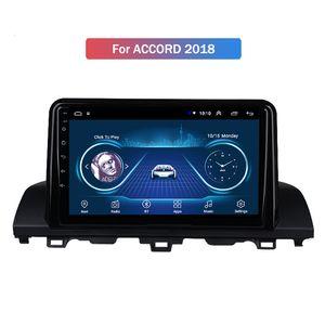 10.1inch Android 10 Coche GPS de navegación para Honda Accord 2018 estéreo Soporte de audio video de radio de Bluetooth