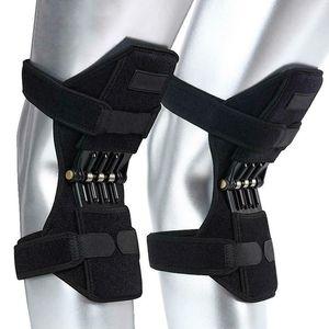 1 par de almohadillas de rodilla Potencia de escalada transpirable Resistencia de soporte de rodilla Almohadilla estabilizadora de la articulación de la rodilla Alza estabilizadora elástica