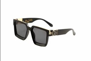Luxury MILLIONAIRE Occhiali da sole da uomo full frame Occhiali da sole vintage firmati da uomo Logo in oro lucido Vendita calda Top placcato oro 96006