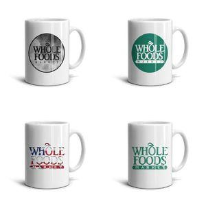 Beyaz Tüm-Gıda-Pazar-Vintage-eski-Seramik Mug 11 OZ İlham Çay Kupalar Whole Foods Market Vintage eski Sevimli Baskılı Coffee Cup