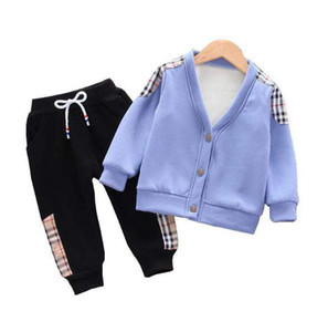 Toddler Boys Brand Clothes Thick Tops Kids Clothes Coat Pant Outfit Children Jacket Trousers Suit For Baby Boys Girls Clothing Sets