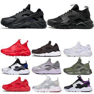2019 1 4 0 36 45 Huarache. Laufen für Männer Frauen Triple Black Weiß Rot Grau Mens-Trainer-Schuhe Turnschuhe -5 Outdoor-Schuhe