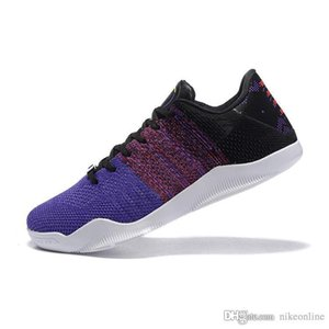 Cheap mens ZK11 Bryants 11 XI elite low basketball shoes BHM Black Purple Team Red Blue new colors lebron zk mamba sneakers tennis with box