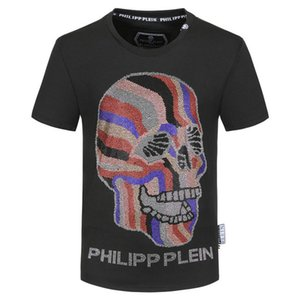 Philip Plain Brand Mens Designer T Shirts Firmata Uomo Fashion Luxury Designer T Shirt Summer Homme Mens Skull Tshirt Tee Tops 9445