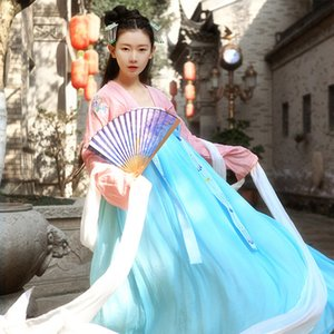 Hanfu Women Chinese Ancient Clothes Hanfu Dress Folk Dress Costumi etnici Tang Dynasty Abbigliamento Cosplay Costume di scena BL1233