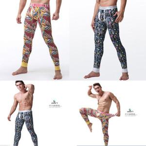 Sonbahar Erkekler Uzun Casual Graffiti Baskılı Stretch Rahat Skinny pantolonlar Dar Kesim Pantolon