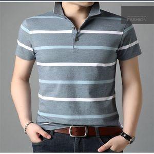 Mens Designer Polo a righe stampato casuale manica corta Tees Slim contrasto Top Fashion Color traspirante Mens