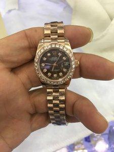 Avec la boîte originale 116333 femmes 26mm auto mécanique automatique Diamond Dial lunette montre enroulement horloge en acier inoxydable montre-bracelet date juste
