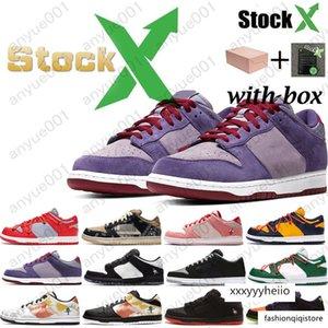 2020Hot SB Dunk Hommes Femmes Chaussures de sport mode de planche à roulettes chaussures Black Diamond Raygun Tie Dye Blanc Ciment Panda Pigeon mens chaussures de sport d'entraîneur