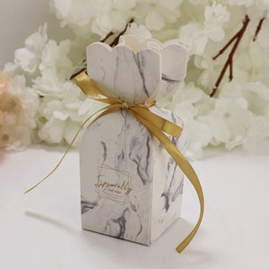 50 Caixa de presente Pieces doce bolo sacos do partido de acoplamento floral Wedding Parties caixas do favor Gift Bags